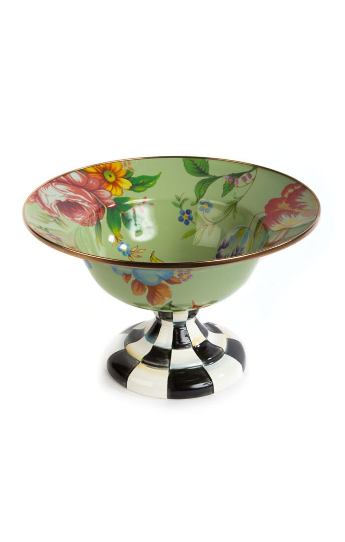 Flower market large compote green