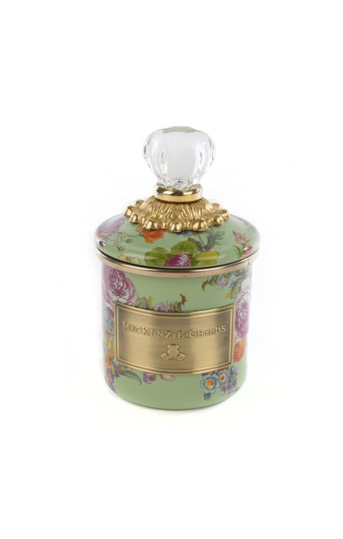 Flower market mini canister green
