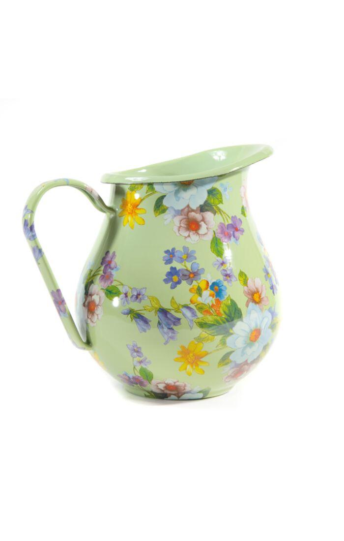 Flower market pitcher green