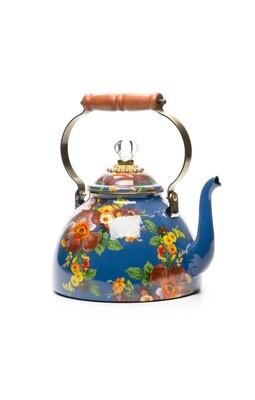 Flower Market 3 Qt. Tea Kettle - Lapis