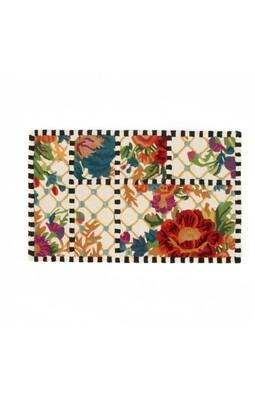 Flower market trellis rug 2'3 x 3'9