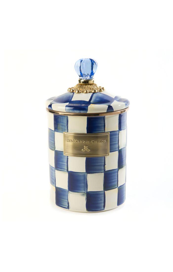 Royal check canister medium