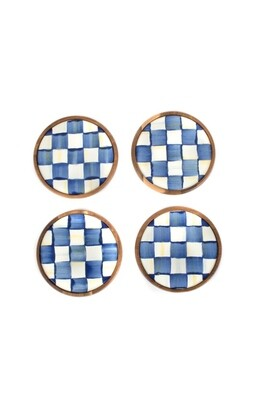 Royal check coasters set of 4