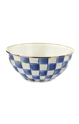 Royal check everyday bowl large
