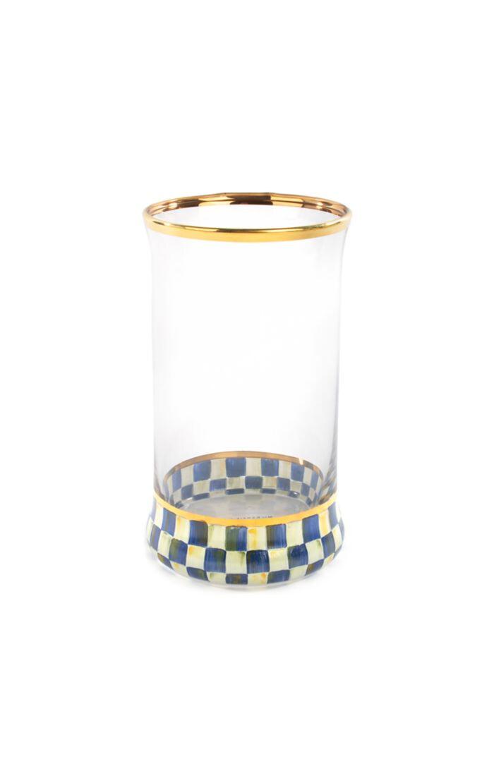Royal check highball glass