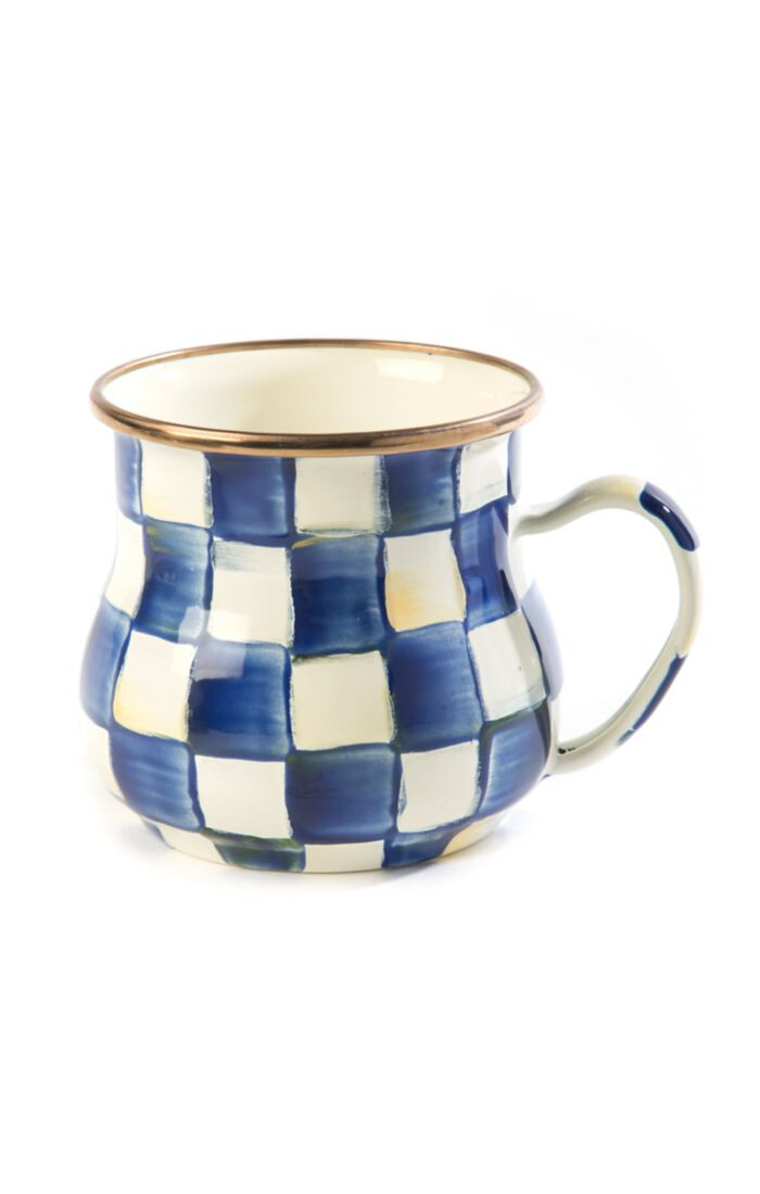 Royal check enamel mug