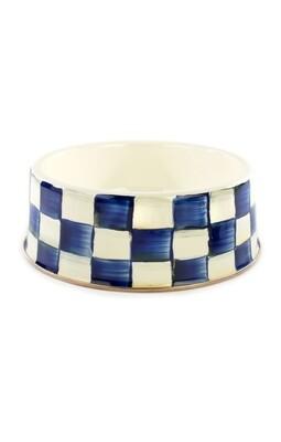 Royal check pet dish large