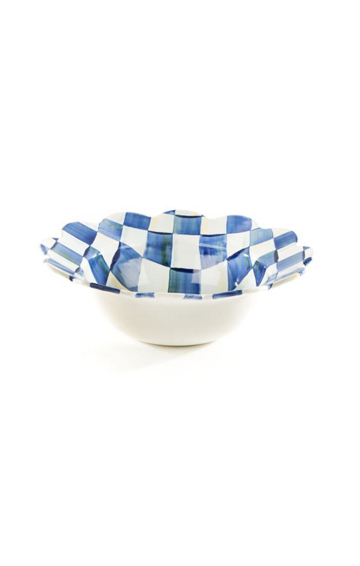 Royal check petal serving bowl
