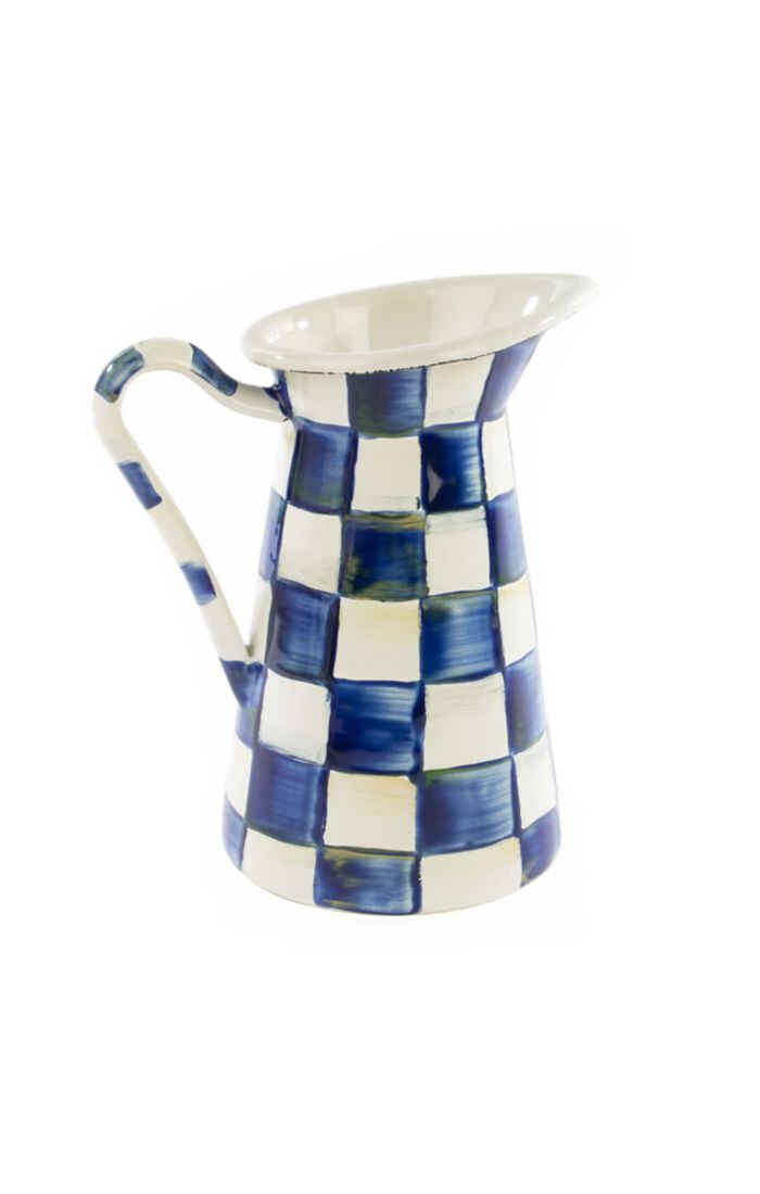 Royal check practical pitcher small