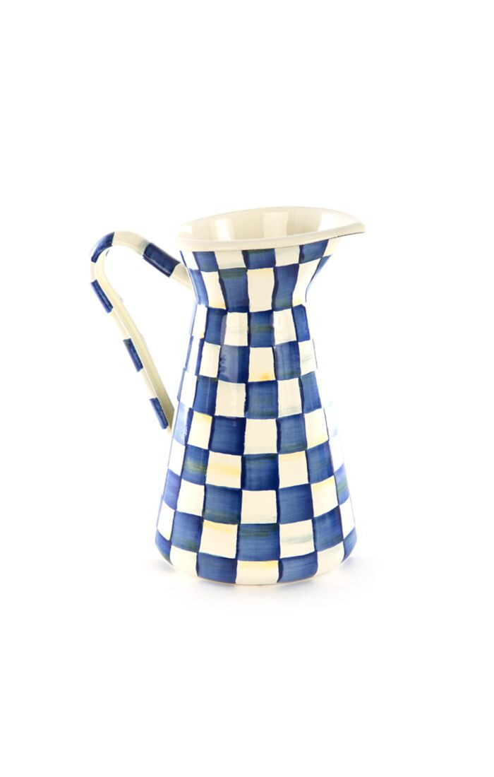 Royal check practical pitcher large