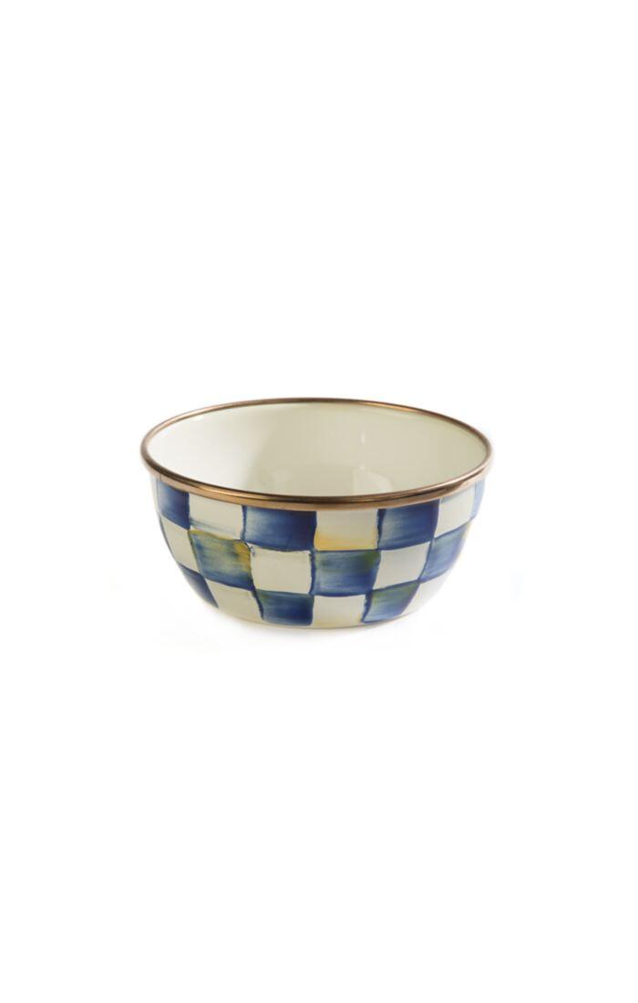 Royal check pinch bowl