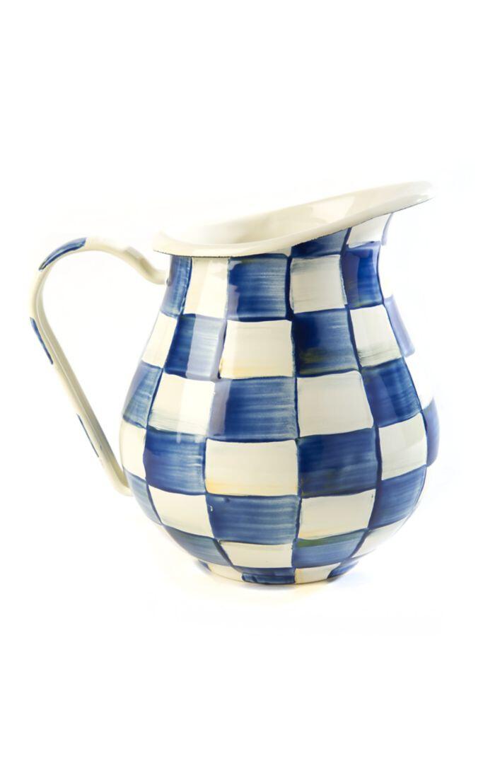 Royal check pitcher