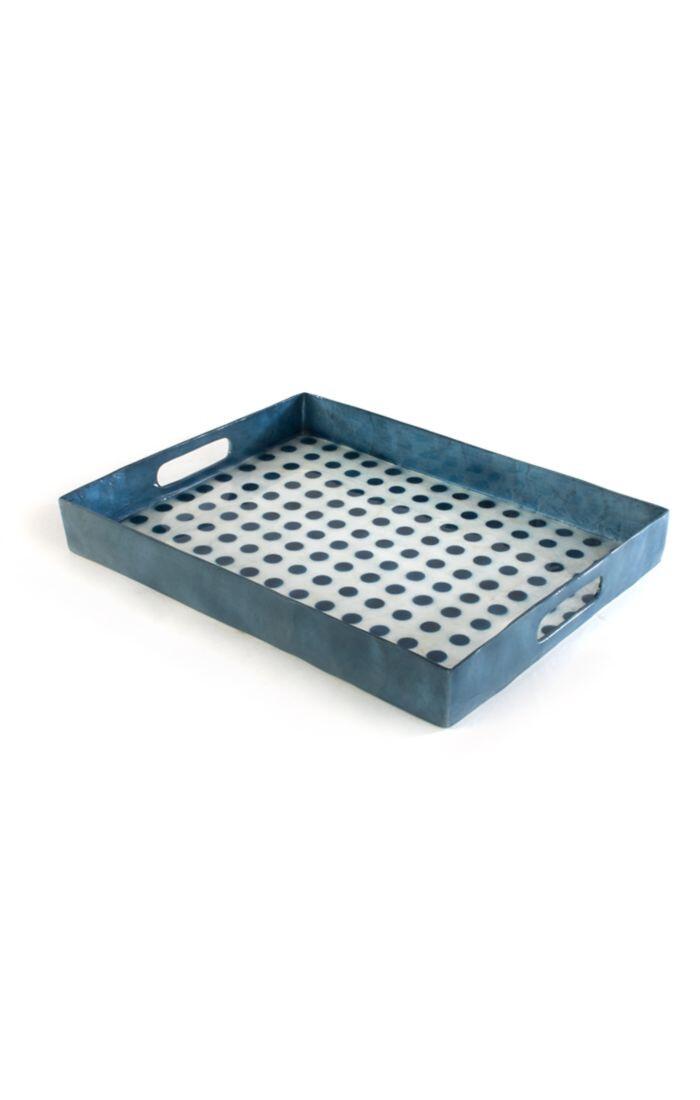 Royal dot serving tray