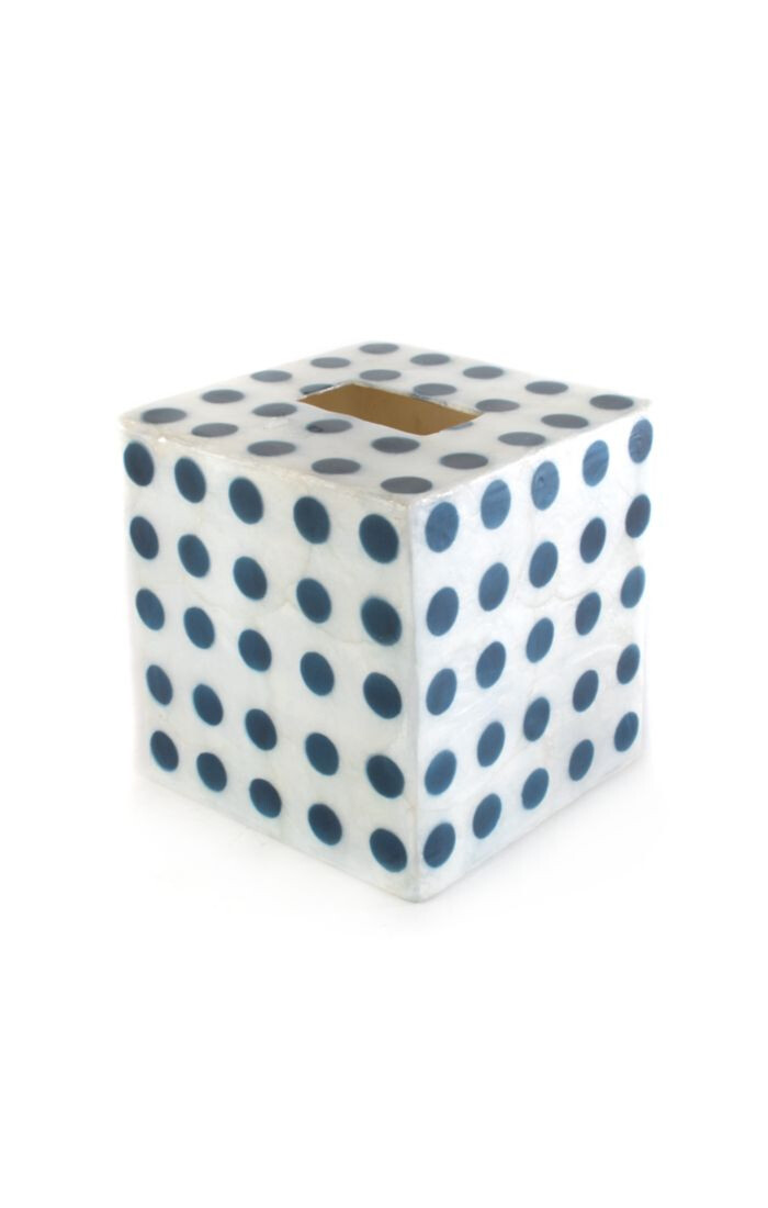 Royal dot tissue box cover
