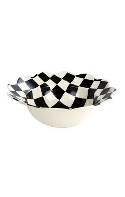 CC enamel petal serving bowl