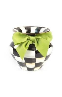 CC Enamel Large Vase - Green Bow