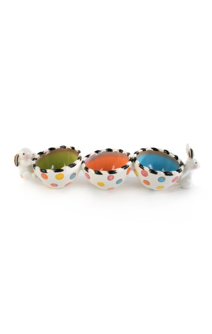 Dotty triple bowl