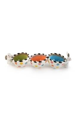 Dotty triple bowl