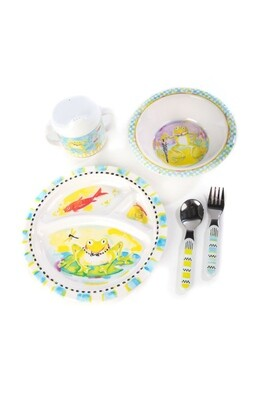 Toddlers dinnerware set frog