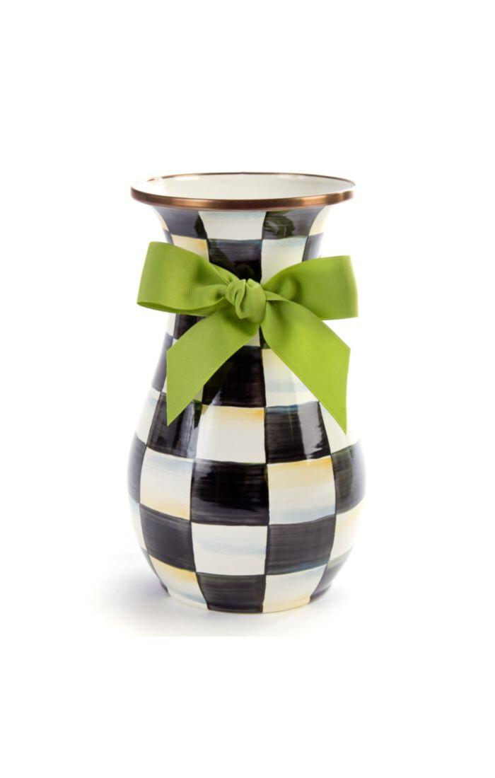 CC enamel vase tall