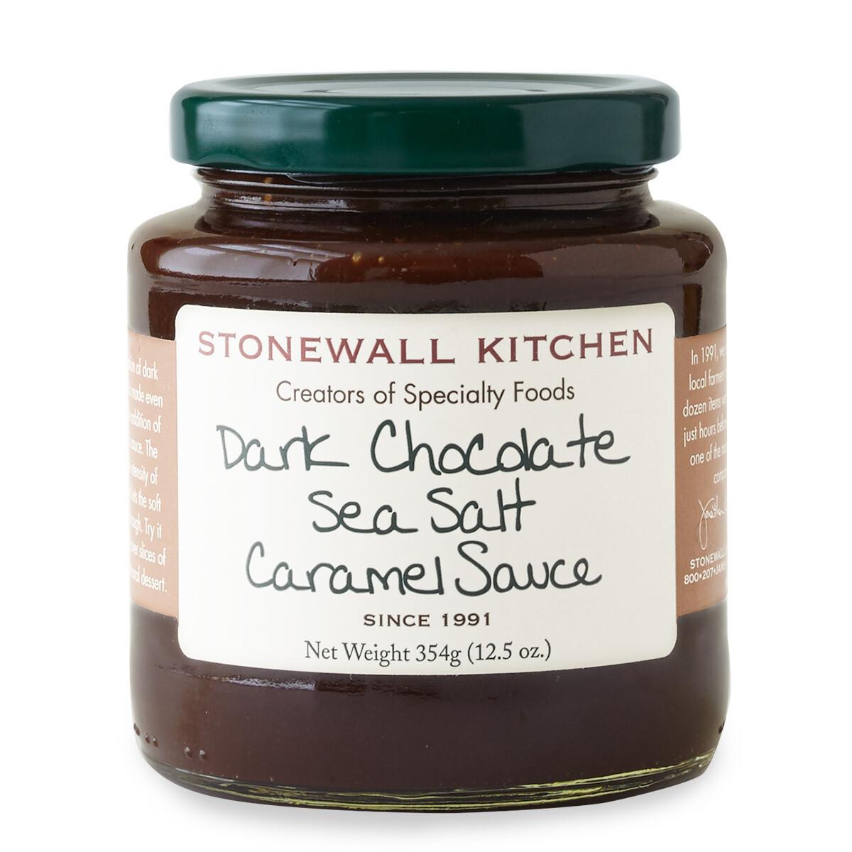 Dark chocolate sea salt caramel sauce