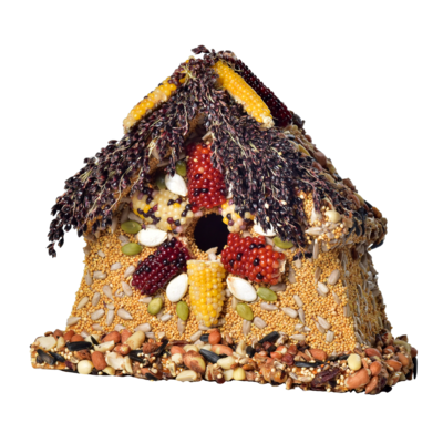 Rustic sparrow house