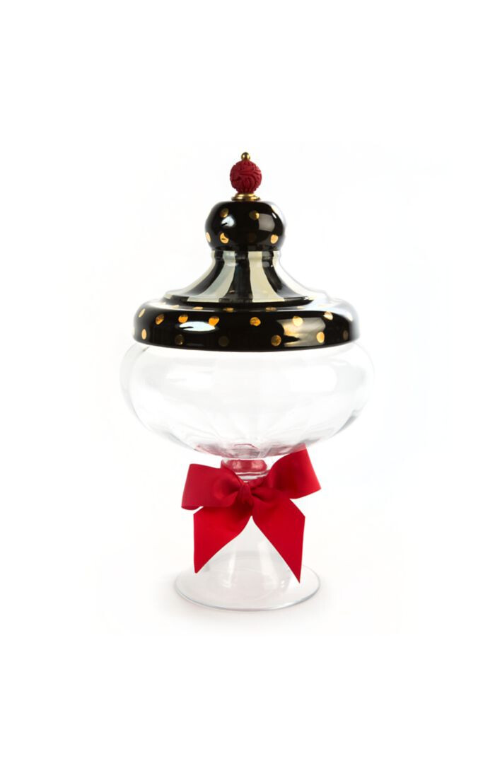 Black tie apothecary jar large
