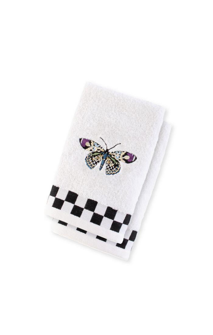 Butterfly fingertip towel