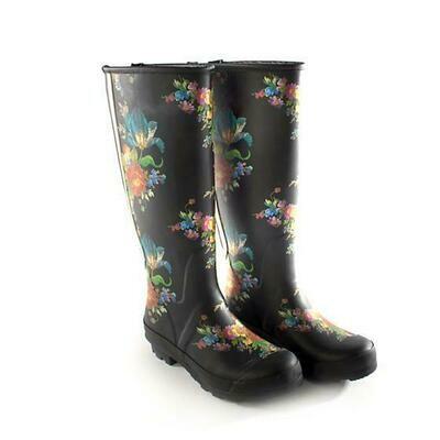 Flower Market Rain Boots - Size 8