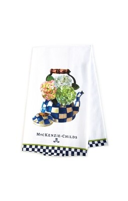 Hydrangea tea kettle dish towel