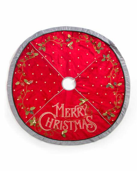 Merry christmas tree skirt