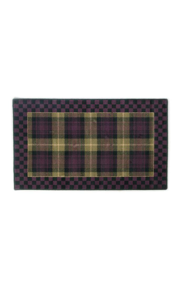 Moonlight garden tartan rug 3x5