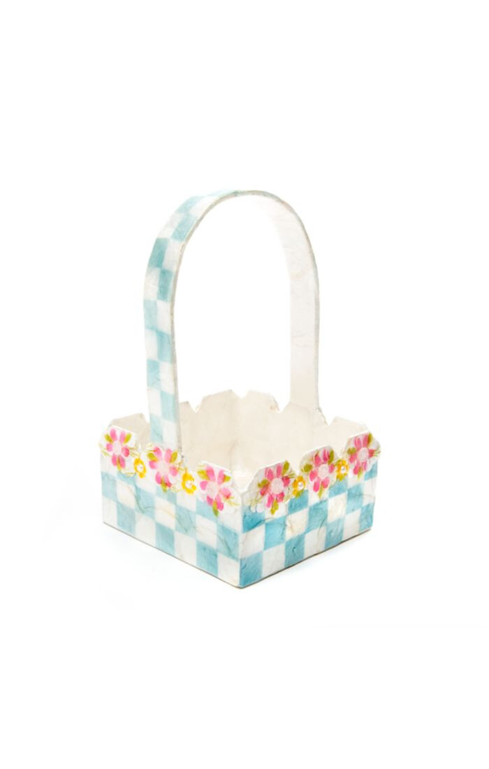 Picket fence basket blue