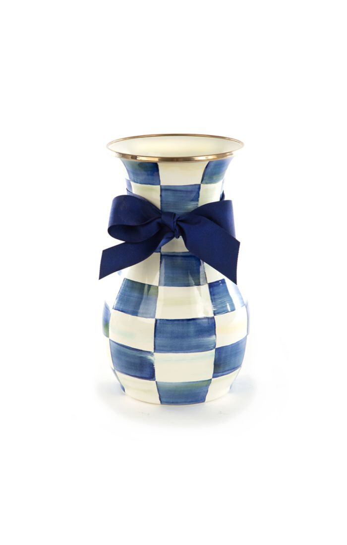 Royal check vase tall
