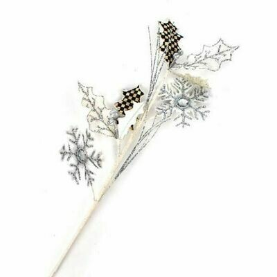 Snowfall holly leaf pick