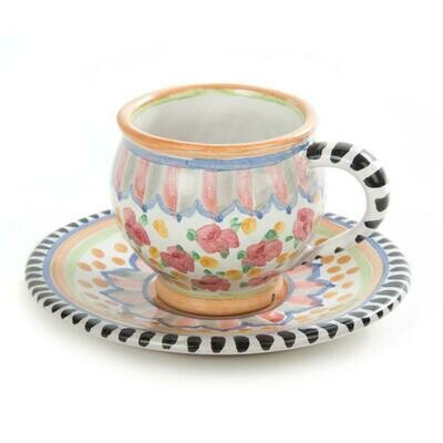 Taylor espresso cup and saucer cabbage rose
