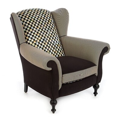 Underpinnings studio wing chair black