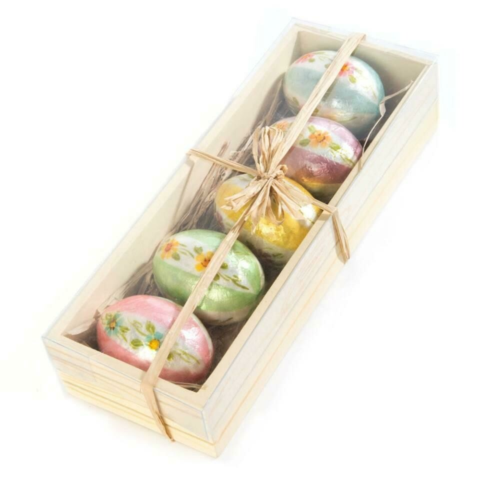 Honeymoon stripe egg ornaments