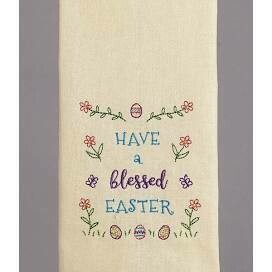 Blessed easter kitchen towel