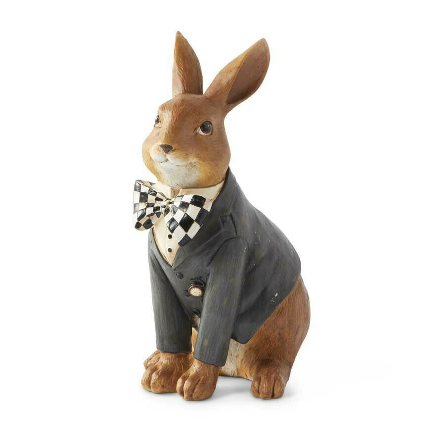 10 inch sitting bunny with bow tie