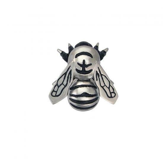 Bumblebee door knocker silver