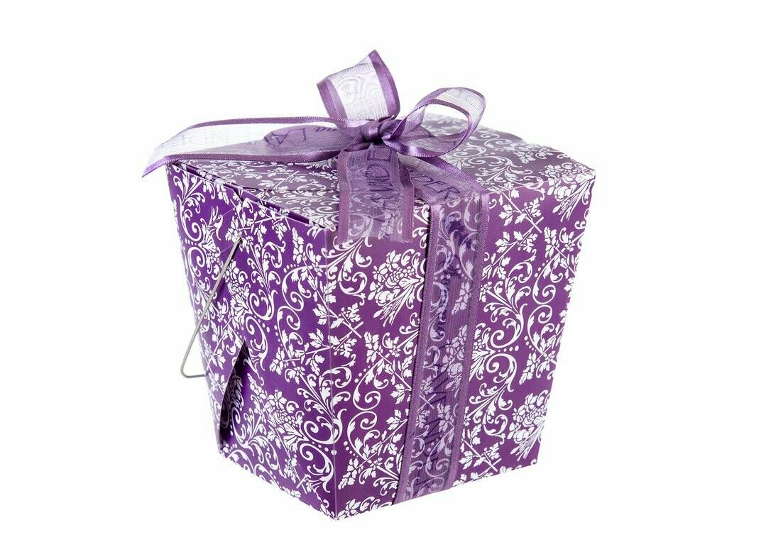 Lavender take out box