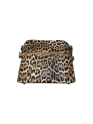 Leopard crossbody tan large