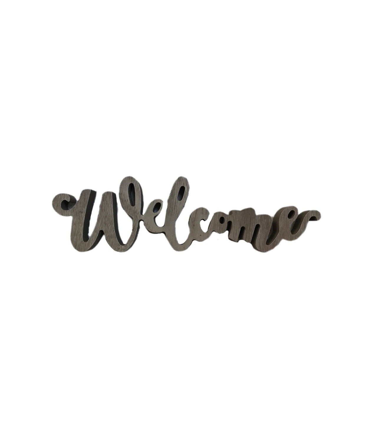 Welcome cutout tabletop sign