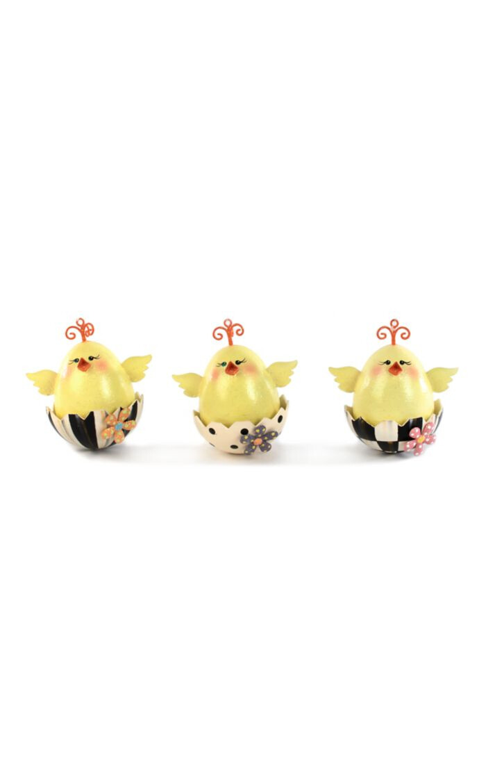 Chick ornaments set of 3