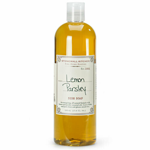 Lemon parsley dish soap