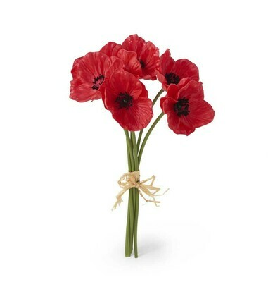 11 inch real touch poppy bouquet