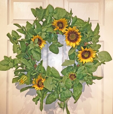 26 inch sunflower wreath