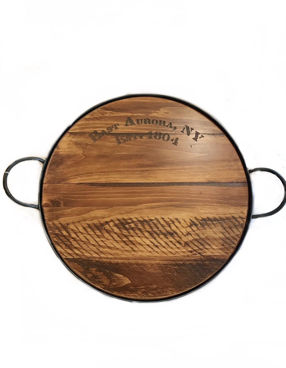 East Aurora cask and crown tray