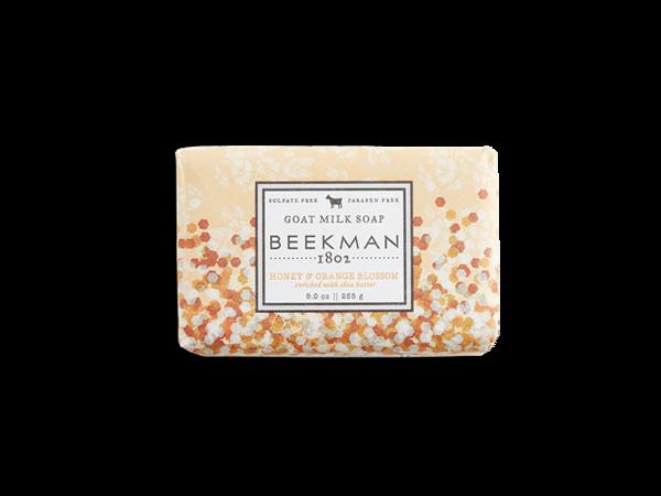 Beekman goat milk soap bar honey and orange blossom
